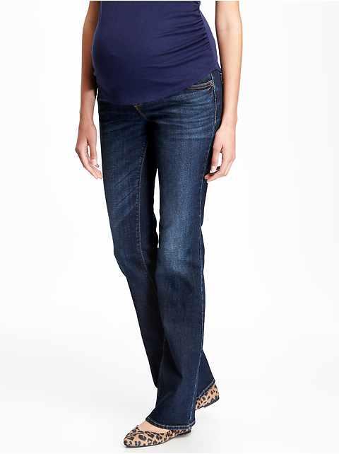 d4f4d40533be6 Maternity Full-Panel Boot-Cut Jeans