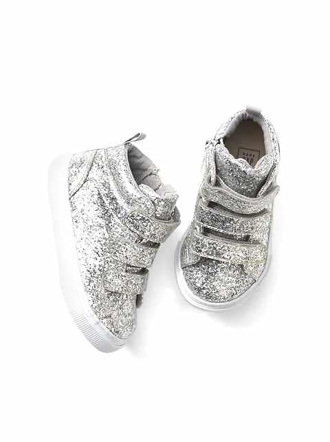 outlet store 800d1 4b94f Toddler Glitter Hi-Top Sneakers