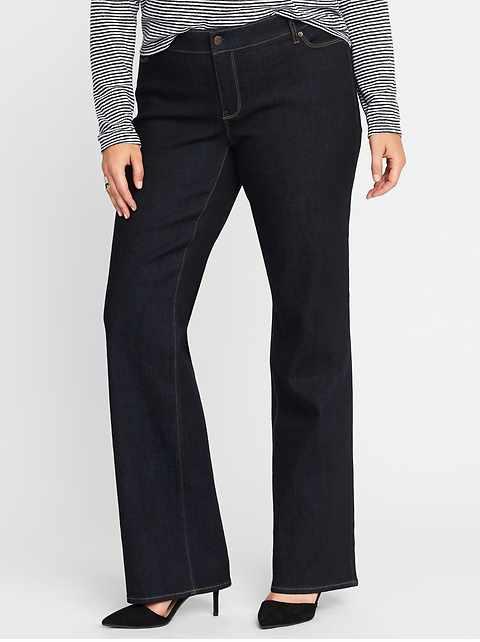 028629a551659 Mid-Rise Secret-Slim Pockets Plus-Size Boot-Cut Jeans