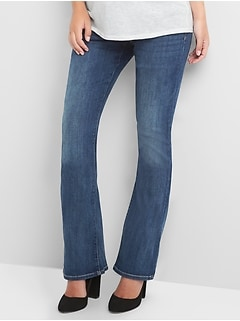 New Gap 1969 Maternity Demi Panel Perfect Boot Stretch Denim Jeans 0 XS 2 10 $69