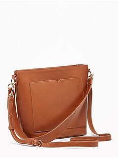 Faux-Leather Bucket Bag for Women 2f9030312dce5