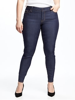 d58202b41cb Mid-Rise Plus-Size Super Skinny Ankle Jeans