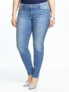9aa9147d36c61 Mid-Rise Plus-Size Super Skinny Ankle Jeans
