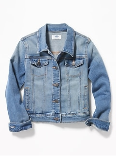 077d2f7349150 Medium-Wash Denim Jacket for Girls