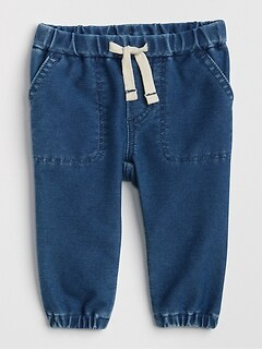 Baby Boys Baby Gap 6-12 Months Denim Pants Plaid Cuffs Soft Waist Clothing, Shoes & Accessories