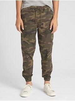 7b475892d6f9 Twill Jogger Pants with GapFlex