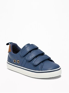 cb663f98022 Triple-Strap Faux-Leather Sneakers for Toddler Boys