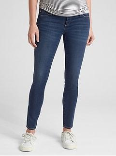 931a93be3455c Maternity Soft Wear Comfort Panel True Skinny Jeans