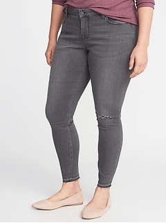 2d6c822816c High-Rise Secret-Slim Pockets Plus-Size Released-Hem Gray Rockstar Jeans
