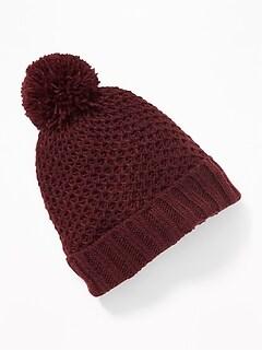 Honeycomb-Knit Pom-Pom Beanie for Baby 65af02c04cc