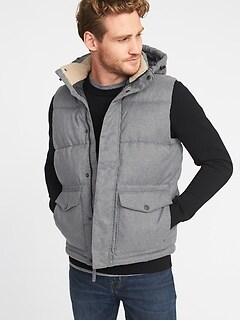 ca991a8c24 Detachable-Hood Frost-Free Puffer Vest for Men