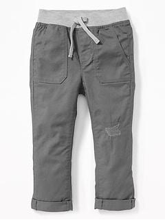 d0dfb50c5 Skinny Rib-Waist Twill Pants for Toddler Boys