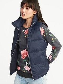 frost free puffer vest for women - Old Navy Christmas Eve Hours
