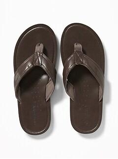 c9c9b6631 Faux-Leather Flip-Flops for Men