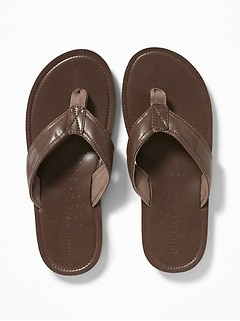 dbe61427709b2 Faux-Leather Flip-Flops for Men