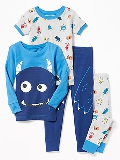 4-Piece Monster-Graphic Sleep Set for Toddler Boys   Baby e75522b72