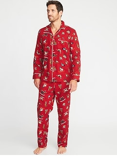 08f17b8e4e Patterned Flannel Pajama Set for Men