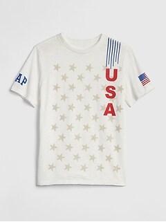 1347745de36c Kids Gap Logo Flag Short Sleeve T-Shirt