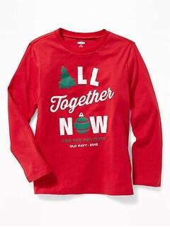 Christmas Graphic Crew-Neck Tee for Boys 5acda307f