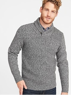 389649ea06e Shawl-Collar Sweater for Men