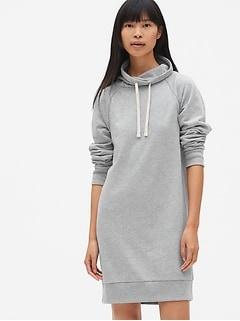 Funnel-Neck Pullover Sweatshirt Dress 66e61f67ec