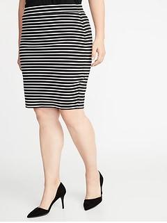 e1d165da4ea Secret-Slim Plus-Size Ponte-Knit Pencil Skirt