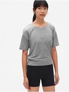 5008fb6a742e0 GapFit Breathe Stripe Open-Back T-Shirt