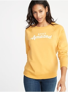 Relaxed Graphic Crew-Neck Sweatshirt for Women 016c6f8e1