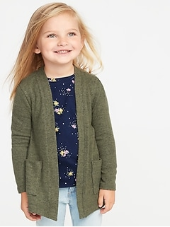 c7edac7bd Plush-Knit Open-Front Sweater for Toddler Girls
