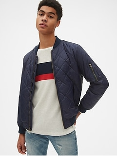 e319a1e86afc2 Quilted Bomber Jacket