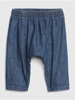 f5091f53a5e1f Denim Harem Pants