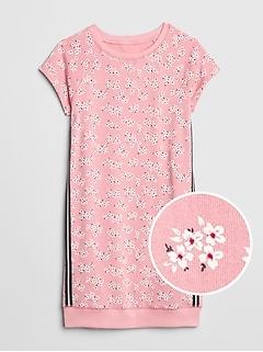 7a06c4390d Floral Racerstripe T-Shirt Dress
