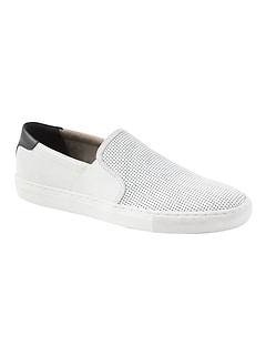 a31a7b5667f Dylin Perforated Leather Slip-On Sneaker