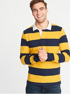 24d25cbfa Striped Thick-Knit Jersey Rugby for Men