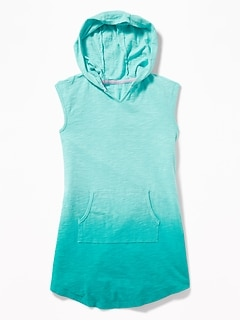 Sleeveless Hooded Swim Cover-Up for Girls 3795ec65d