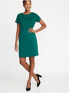 359bd94d1b33af Ponte-Knit Sheath Dress for Women