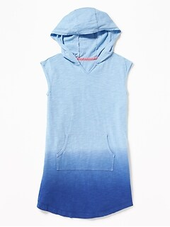 54006bf2d032a Sleeveless Hooded Swim Cover-Up for Girls