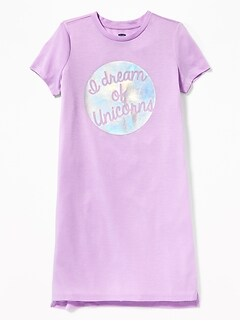 80d0981ea9 Sleepwear. Jersey Sleep Dress for Girls