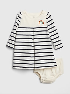 30e8fba3b0e Rainbow Stripe A-Line Dress