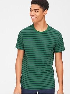 c19de9cc2aca19 Stripe Pocket T-Shirt
