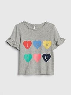 51f38aef5 Baby Graphic Ruffle T-Shirt