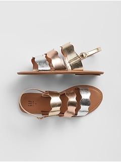 9765a0b7100 Kids Metallic Strappy Sandals
