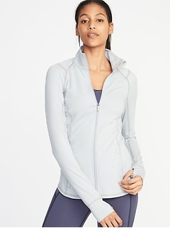 ad7bfaa2c0f Fitted Soft-Brushed Performance Zip Jacket for Women