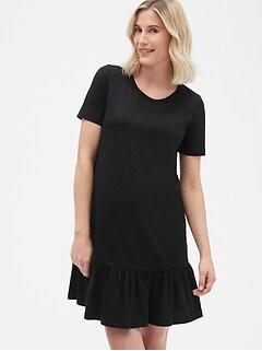 42e958d546f Maternity Ruffle Hem T-Shirt Dress