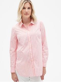d6510a574f9 Maternity Tailored Stripe Shirt in Poplin