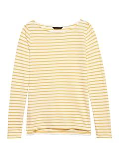 82832ce8a2d2d Slub Cotton-Modal Boat-Neck T-Shirt