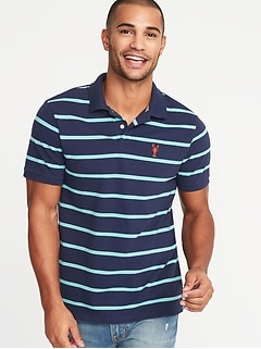 16dadac6 Striped Built-In Flex Moisture-Wicking Embroidered-Graphic Pro Polo for Men