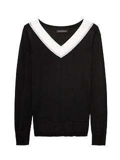 Merino Varsity V-Neck Sweater 3c7dde143