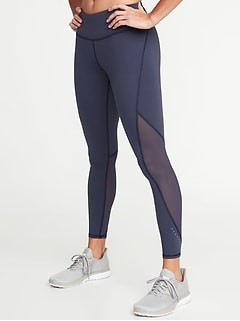 24765f3358a53 Mid-Rise 7/8-Length Elevate Compression Run Leggings for Women