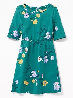 Printed Jersey Fit   Flare Dress for Girls 7c41d04c5